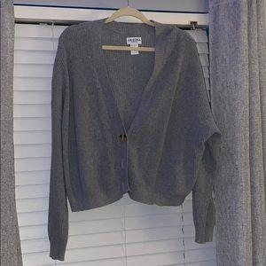 oversize grey sweater